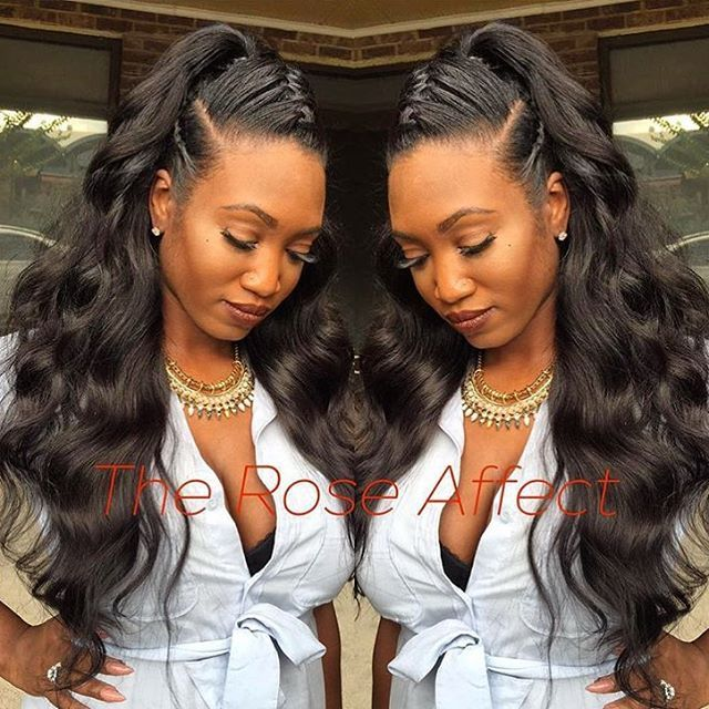 STYLIST FEATURE| Flashback to this ponytail with #underbraid styled by #ATLStylist @the_rose_affect❤️ So creative and beautiful #VoiceOfHair ✂️========================== Go to VoiceOfHair.com ========================= Find hairstyles and hair tips! =========================