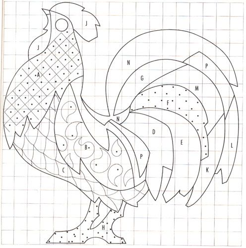 roosters to print for embroidry | ... pdf rooster pattern is here : McCall's Magazine Rooster Pattern