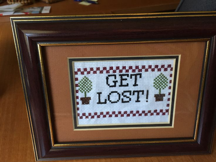 Currently on my desk, but meant for the front door. Stupid solicitors. Based on a pin.