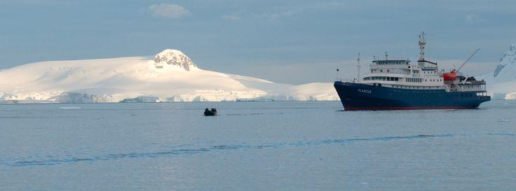 m/v Plancius in Antarctica