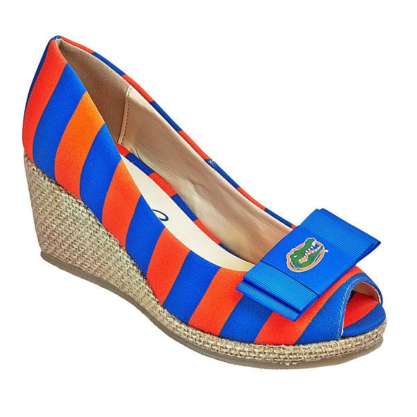 lillybee - University of Florida Wedges   University of Florida Bow, $98.00 (http://lillybee.com/university-of-florida-wedges-university-of-florida-bow/)