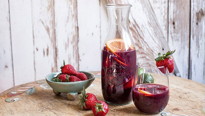 Mix up a cold, fruit-filled pitcher of sangria, then gather up your partygoers for a real treat.