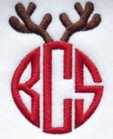 Antlers Christmas Embroidery Frame Design | Apex Embroidery Designs, Monogram Fonts & Alphabets