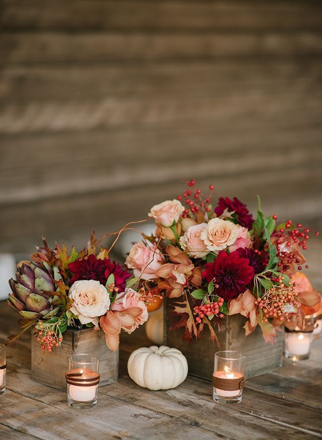 We're Feeling Fall with this Pumpkin Wedding Decor