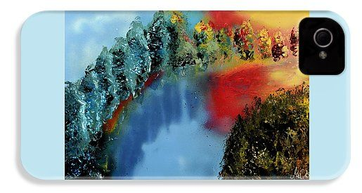 River Of Colors IPhone 4 / 4s Case Printed with Fine Art spray painting image River Of Colors by Nandor Molnar (When you visit the Shop, change the orientation, background color and image size as you wish)