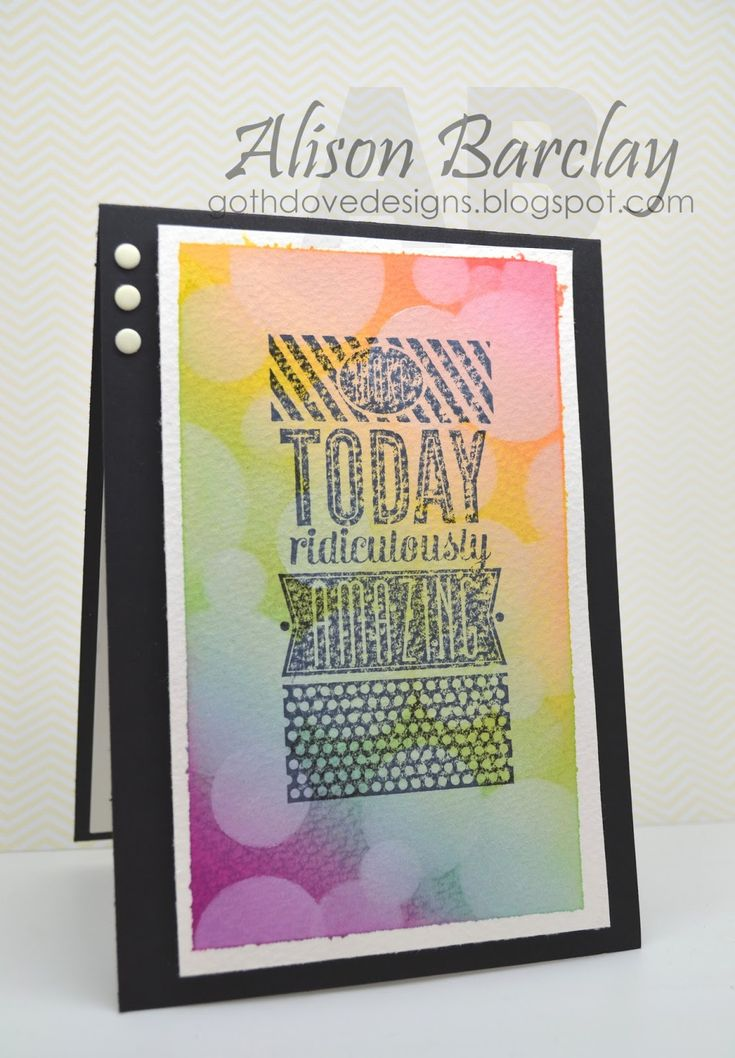 Gothdove Designs - Alison Barclay #stampinup #stampinupaustralia #stampinupsouthpacific #AmazingBirthday #card #birthday #bokeh #rainbow #watercolor