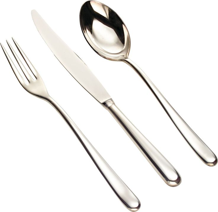 """Alessi """"Caccia"""" Flatware Set Composed Of Table Spoons, Table Forks, Table Knives Monobloc, Tea Spoons in 18/10 Stainless Steel Mirror Polished, Silver"""