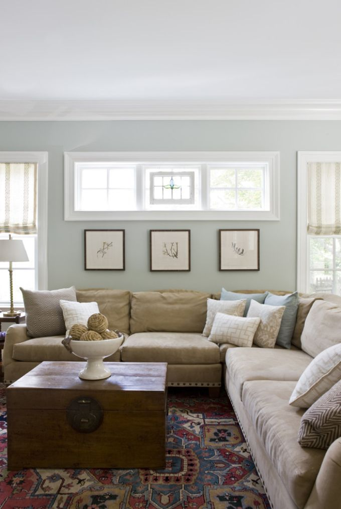 Family room color Paint color: Benjamin Moore Tranquility {House of  Turquoise: Lily Mae Design}