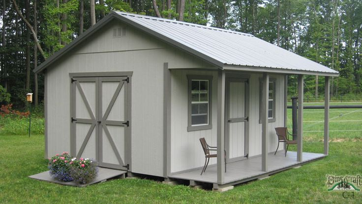 Amish Built Garages Missouri : Building a shed roof porch workshop plans with