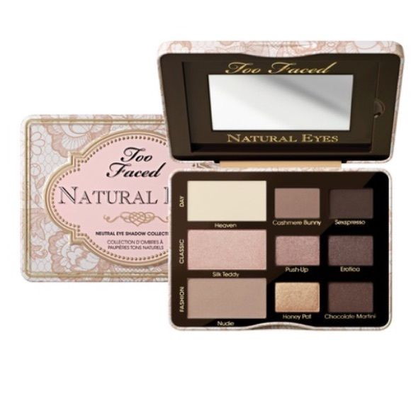 Two Faced natural eyes eyeshadow palette I'm selling this for my sister because she's too lazy to make an account for herself! It's in outstanding condition! Used one! Two Faced Makeup Eyeshadow