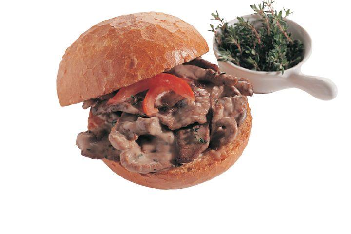 Broodje met rundvleesreepjes