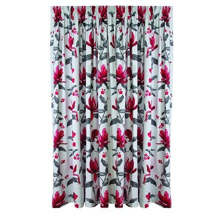 Living & Co Limited Edition Curtains Flora Flame Extra Large 205cm Drop - Promotional - Curtains - Curtains & Blinds - The Warehouse