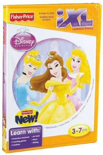 Fisher-Price iXL Learning System Software Disney Princess by Fisher-Price. $17.97. From the Manufacturer                Being a Princess means that kindness and love conquer all. Bring Belle, Aurora and Cinderella to life with the iXL Learning System! This software adds a fresh new interactive story for the Digital Reader, plus three exciting arcade-style games, themed templates for writing, special backgrounds and stampers for drawing, and more! Digital Reader: R...