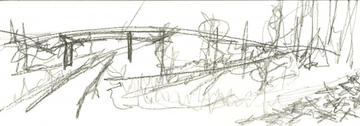 Author: Kory A. Beighle     Date: 20 April 2011     pencil on bristol     how do two operations interface?     over the course of my explorations the interaction of several operations needed to be addressed. this serial of     drawings attempts it; each image is a long take presented in order for a non-linear reading.