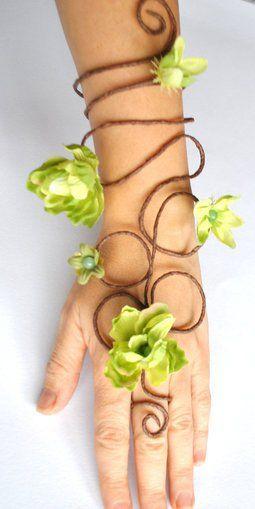 Verde hada de las flores brazalete hiedra venenosa esclavo por Inmyfairygarden