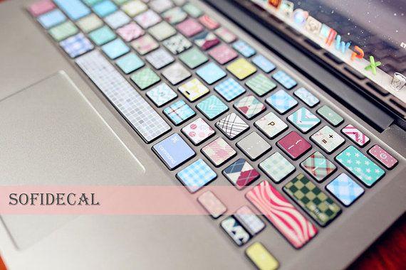 macbook sticker macbook decal macbook skin keyboard par sofidecal