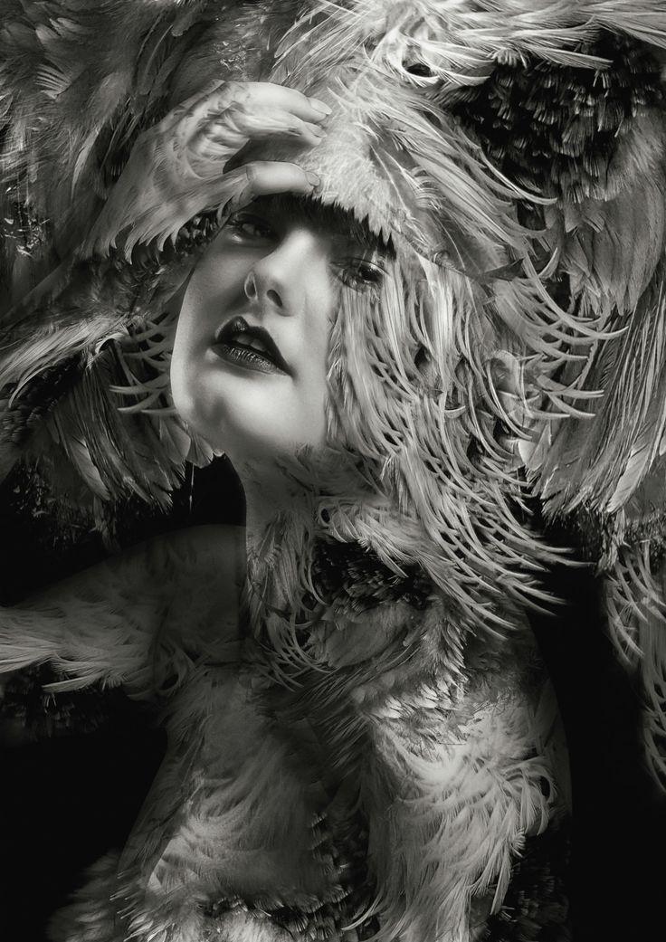 Photographer Lee Howell - model black white silver costume