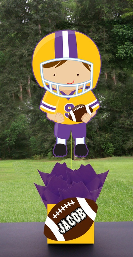 LSU Patriots Inspired Football Birthday Party by playpatterns, $35.00