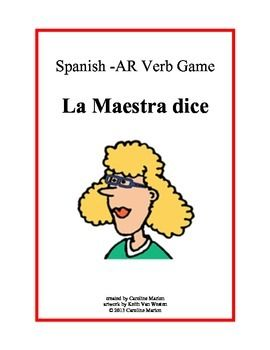 Students repeat Spanish sentences filling in the blank trying to match the teacher. Targets -ar verbs. Great for review. 1st year Spanish, 3rd-9th grade $