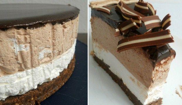 Nepečený krémový dort s Nutellou