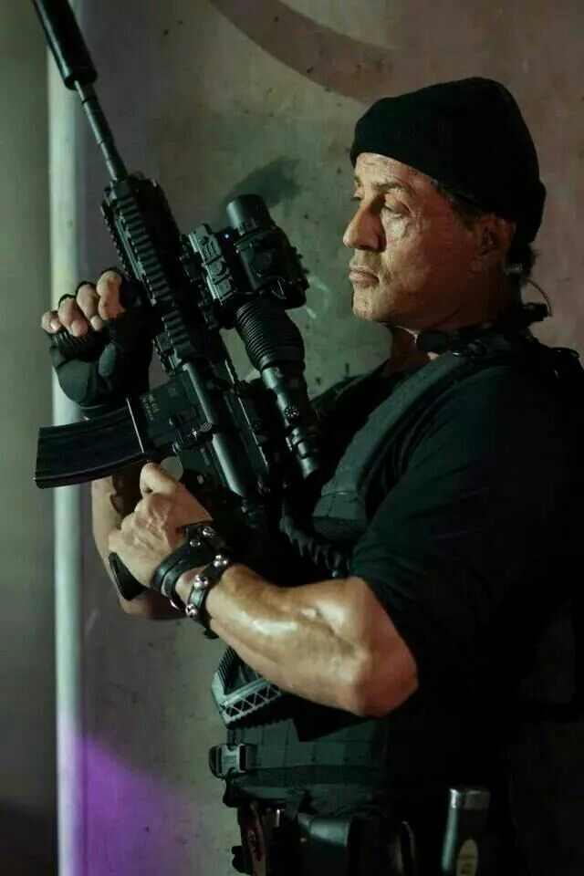 The Expendables 3 (2014) - Still of Stallone during Romanian office building scene