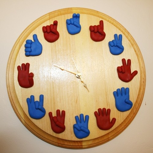 ASL Clock  this is like the one i made fo rspanish but w/o my pohotography and mine was black & white