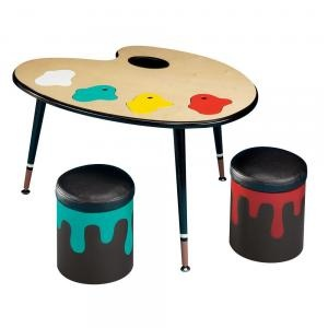 Cute kids art table and chairs kids rooms pinterest for Cute kids chairs