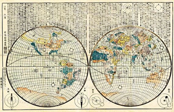 Vintage Old World Map Image Download Retro Style Etsy Antique Maps Old World Maps Map Art
