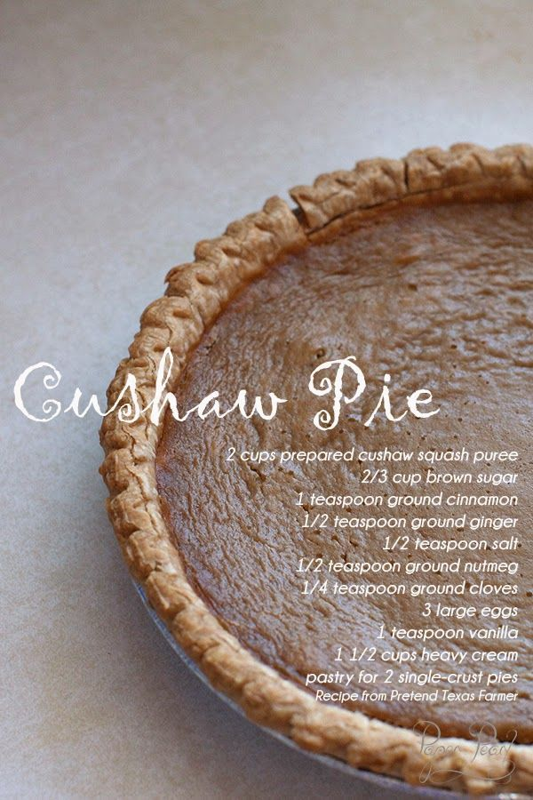 Paper Pearl: The other Fall Pie: Cushaw Pie