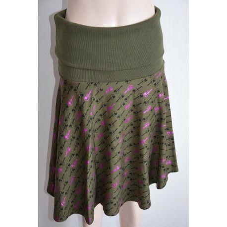Smash dámská sukně tmavě olivová L
