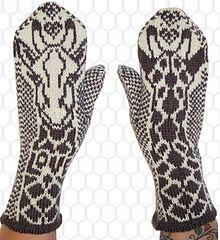 giraffe mittens and cowl - Jorid Linvik - ravelry
