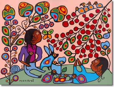 The Mother Earth - Norval Morrisseau