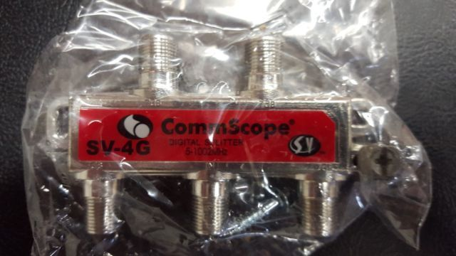 Splitters and Combiners: Lot 100 Commscope 4Way Cable Tv Digital Cable Internet Coax Rg6 Splitter 1Ghz -> BUY IT NOW ONLY: $40.0 on eBay!