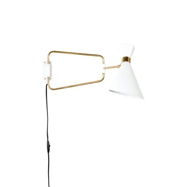 Biela nástenná lampa Zuiver Shady