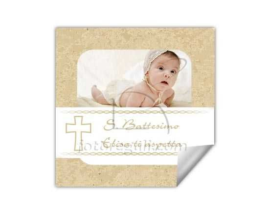 Il dolce sticker da personalizzare per il battesimo del tuo bambino