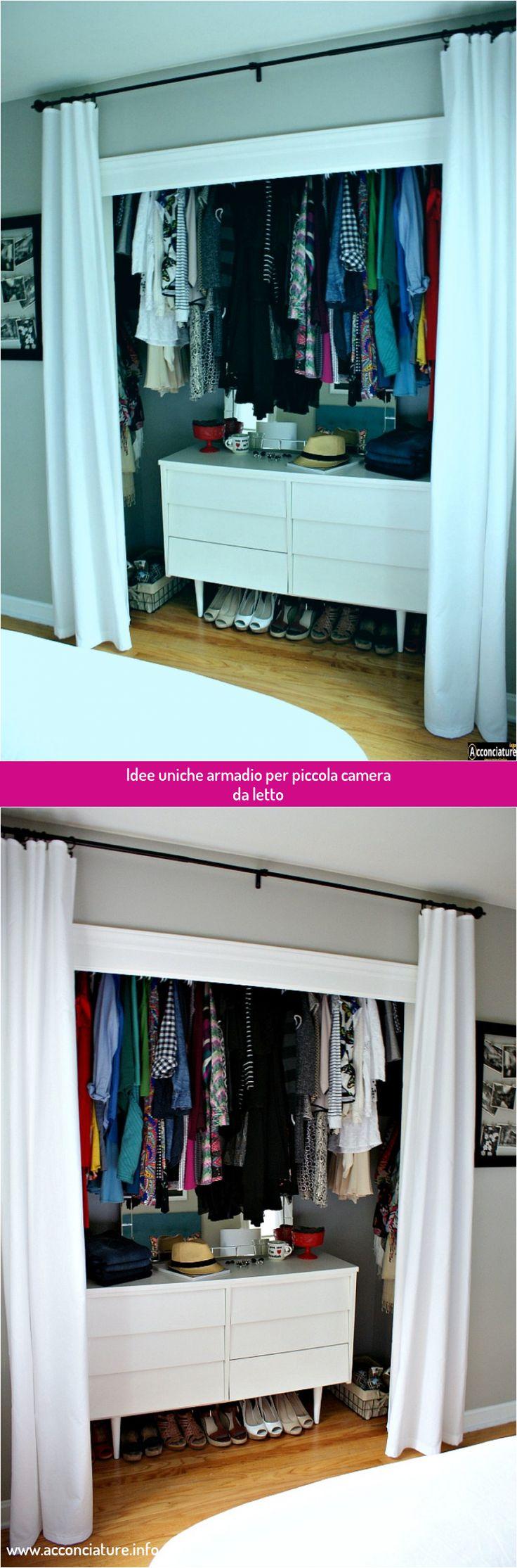 Idee uniche armadio per piccola camera da letto nel 2020 ...