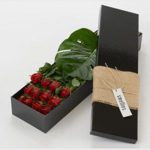 Smellies Florist Geelong - Boxed Red Roses...