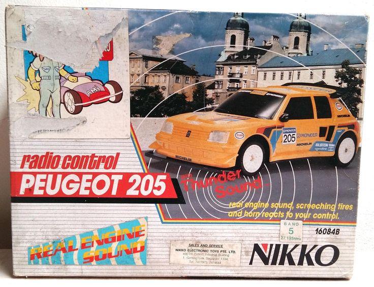 Peugeot 205 T-16 Nikko RC Radio Remote Control Scale 1/16 #Nikko