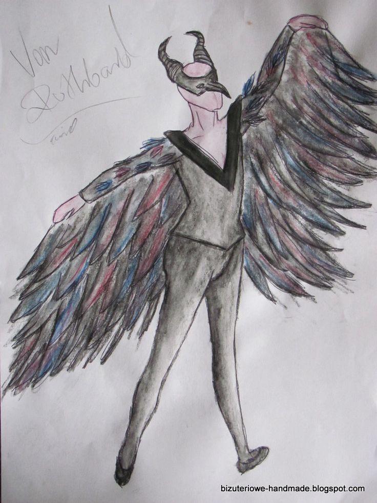 von Rothbart ballet costume design  bizuteriowe-handmade.blogspot.com
