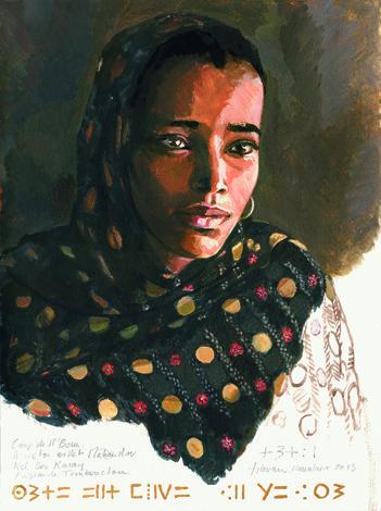 Assietou*, Camp de M'Bera, Mauritanie, 2013 Lamazou   fr   Œuvres