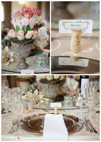 Lovely bride Danica made use of our little wonky urns (MD031) and tealight votives (MD011) amongst other items on her big day! Totally swoonworthy....  photo by http://www.carolienandben.com/