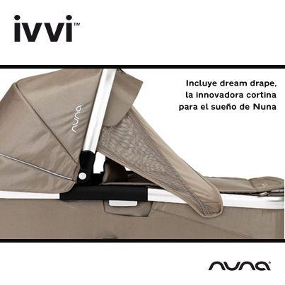 Cochecito multifunciones #IVVI de #Nuna que incorpora capazo, grupo 0+ y sillita para niños, y que se distingue tanto por su innovación como por su diseño.