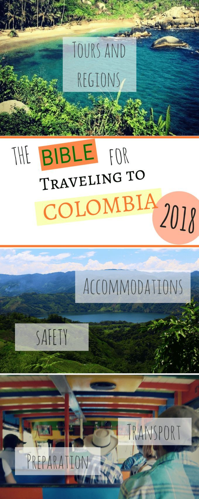 Plan a trip to Colombia. The bible for backpacking in Colombia. What do you need for Colombia: Accommodation in Colombia, tips for Colombia, Is Colombia safe? Food in Colombia, culture in Colombia, What kind of transportation, best hostels #Backpacking #Colombia