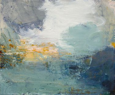 """Chasing Light, Camber Sands,"" original abstract painting by artist Sandy Dooley (UK) available at Saatchi Art #SaatchiArt."