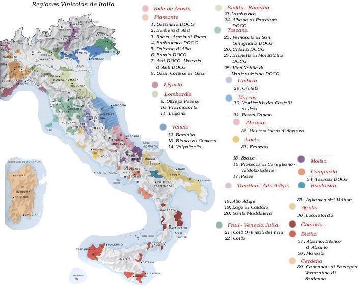 Las regiones vinícolas más importantes del mundo comprenden los siguientes países: Francia, Alemania, Suiza, Austria, Italia, España, Portugal, Estados Unidos, Canadá, México, Chile, Argentina, Aus…