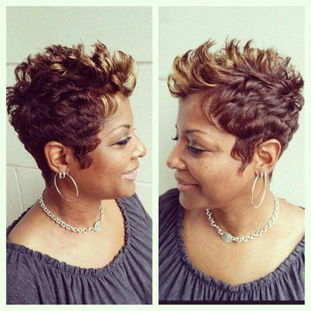 Love this cut and color! | Curls, Buns, Braids, Bobs