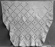 16th-century Italian cutwork apron from the Metropolitan Museum of Art.