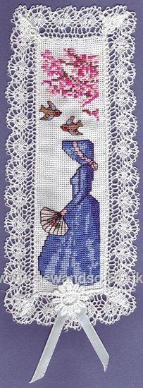 0 point de croix - cross stitch Victorian Lady Bookmark