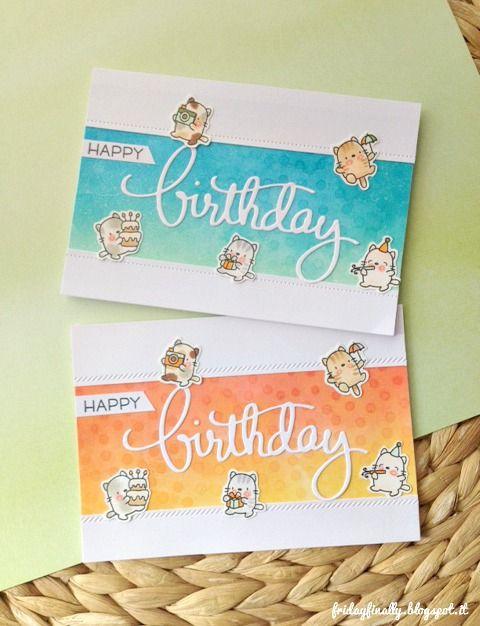 Ciao e tutti e buon venerdì!!   Oggi un nuovo postin collaborazione con  Piccole Perle !!      Ho creato 2 cards a tema compleanno con ...