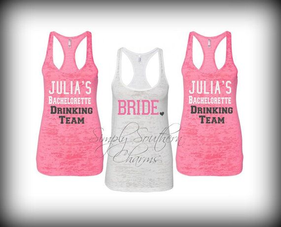 Bachelorette Party Tanks! Like SIMPLY SOUTHERN CHARMS on Facebook to receive 10% off our entire purchase! :)